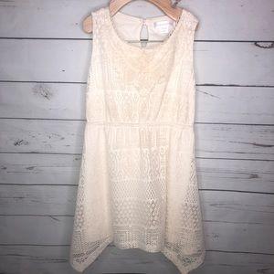 Girls Cream Lace Xhilaration dress Size 4/5 XS